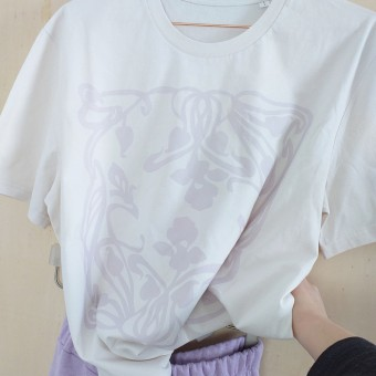 Grotkop Collection ArtNouveauSquare T-Shirt, Bio-Baumwolle