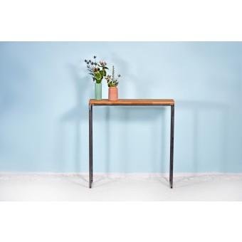 Konsolentisch aus recyceltem Bauholz und Stahl | THORN ZWART