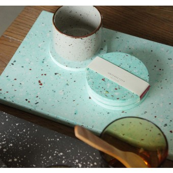 Terrazzo Tablett Türkis / VLO design