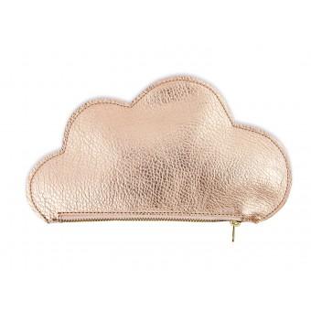 lille mus veganes Täschchen Wolke aus Kunstleder – Roségold