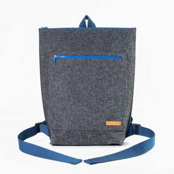 RÅVARE City-Rucksack aus Nadelfilz grau-blau [TAMO]