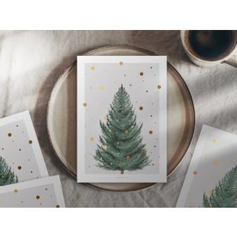 typealive / Weihnachtskarten 4er Set / Tanne