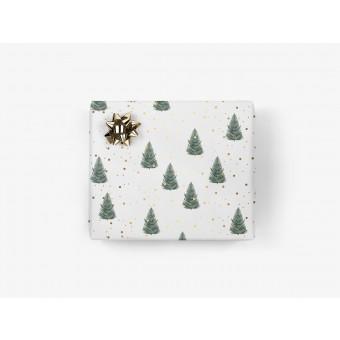 5x Geschenkpapier / Tanne (gefaltet)
