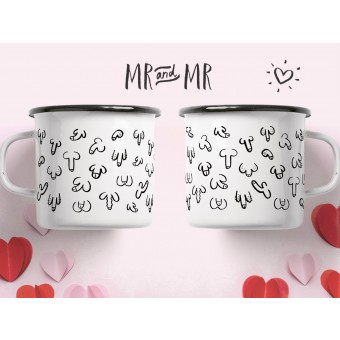 "typealive / Emaillebecher Tasse / Set ""Mr & Mr"""