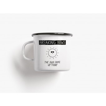 typealive / Emaillebecher Tasse / Breaking News