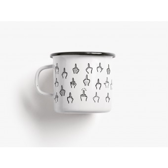 typealive / Emaillebecher Tasse / F*&k You