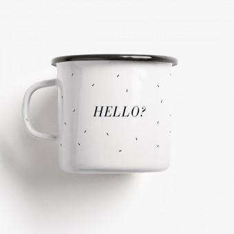 typealive / Emaillebecher Tasse / Hello?