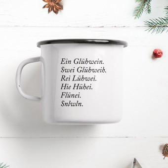 typealive / Emaillebecher Tasse / Glühwein