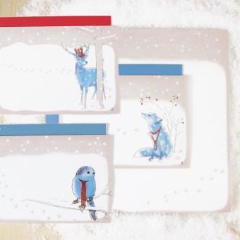 Bow & Hummingbird Grußkarten Wintermärchen