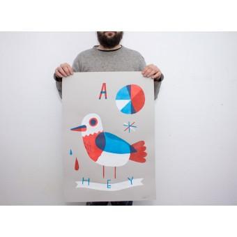 Martin Krusche – Stencil Artprint »TWEET«, 50x70cm