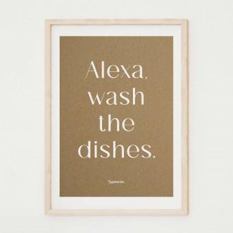 Küchenposter »Alexa« in DIN A2 von Typewine