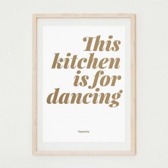 Küchenposter »Dancing« in DIN A2 von Typewine