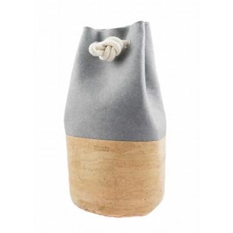 RUBRA Seesack vegan recycling Filz mit Kork grau natur