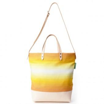 alva Luna Recyclingtasche  aus wiederverwendetem Markisentuch/Leder (gelb)
