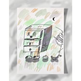 """DisplayThis  """"I'm a drawer"""" I (DIN A4) Artprint auf Künstlerpapier"""