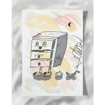 """DisplayThis  """"I'm a drawer"""" II (DIN A4) Artprint auf Künstlerpapier"""