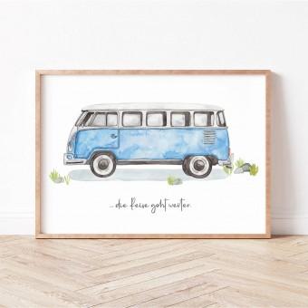 Paperlandscape | Kunstdruck | Camper | vanlife | VW Bulli T1 | verschiedene Größen