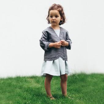 Von mignon - Der curious Kinderblazer - mit aquamarinblauer Einlage