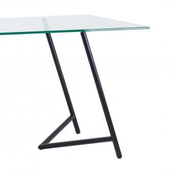 """""""Varius"""" Tischböcke mit Glasplatte von Rahmlow"""