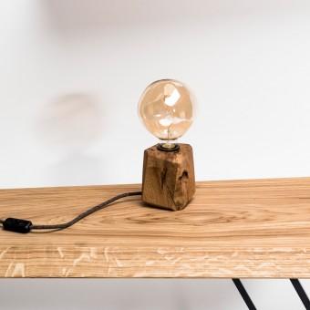 KUBUS | Tischleuchte aus Holz von Verschnitt ohne Leuchtmittel