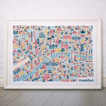 Vianina Frankfurt Poster 100x70