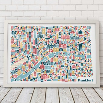 Vianina Frankfurt Poster 70 x 50