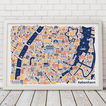 Vianina Kopenhagen Poster 50x70