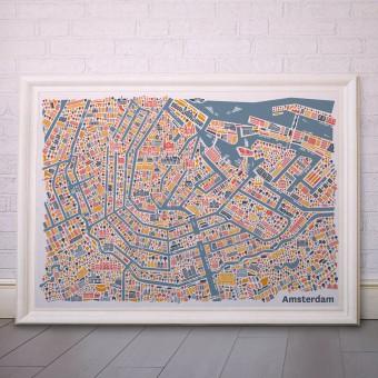 Vianina Amsterdam Poster 100 x 70
