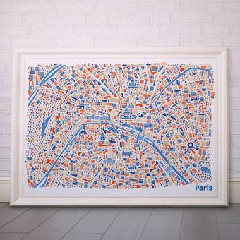 Vianina Paris Poster 100 x 70