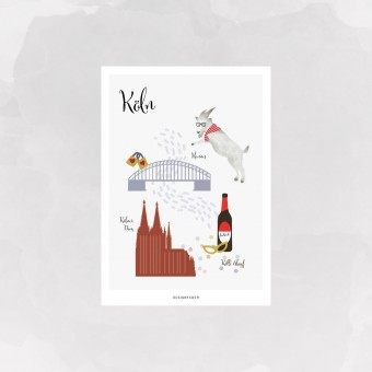 designfeder | Postkarte Köln