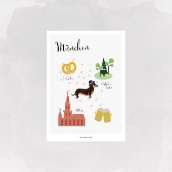 designfeder | Postkarte München