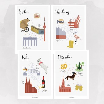 designfeder | Postkarten Lieblingsstädte