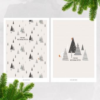 designfeder | Weihnachts-Postkarten Frohe Weihnachten