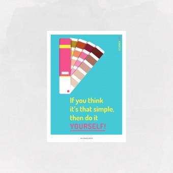 designfeder | Postkarte designer life