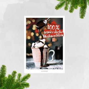 designfeder | Weihnachts-Postkarte genüssliche Weihnachten