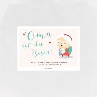 designfeder | Postkarte Oma ist die Beste
