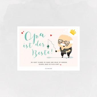 designfeder | Postkarte Opa ist der Beste