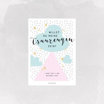 designfeder | Postkarte Trauzeugin