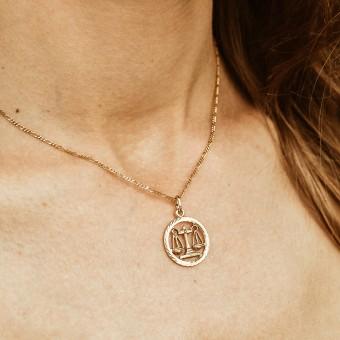 ST'ATOUR LIBRA // WAAGE – Sternzeichenkette in Gold, Silber oder Roségold