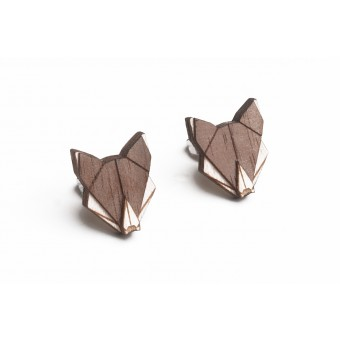 BeWooden Ohrringe - Ohrstecker aus Holz - Wolf Earrings