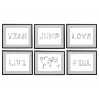 na.hili Set 3 x A3 Print Words... Jump Feel Love Yeah