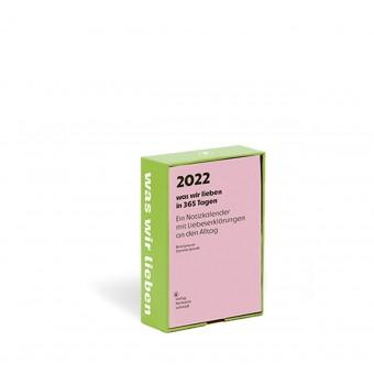 Verlag Hermann Schmidt »was wir lieben« Kalender 2022