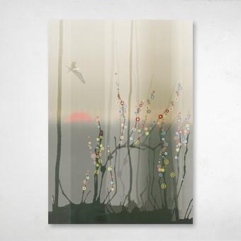 """Amy & Kurt Berlin A2 Aludibond-Wandbild """"Forest"""""""