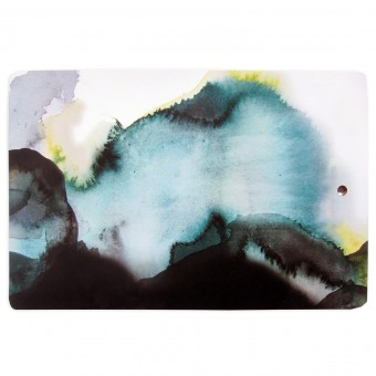 nuukk – Großes Schneidebrett Aquarell grün