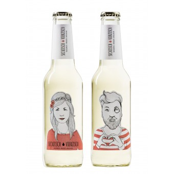 Sechzisch Vierzisch Weißwein + Wasser + Basilikum (15er-Kiste)