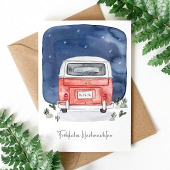 Paperlandscape | Weihnachtskarte | Fröhliche Weihnachten Camper