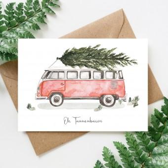 Paperlandscape | Weihnachtskarte | Oh Tannenbaum Camper