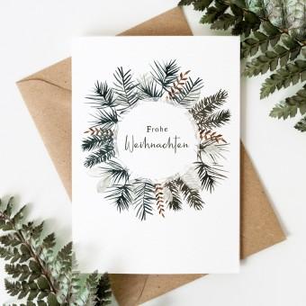 Paperlandscape | Weihnachtskarte | Weihnachtskranz