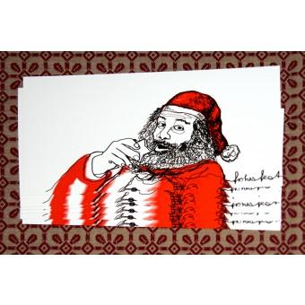 playfulsolutions Weihnachtskarte Weihnachtsmann (Set)