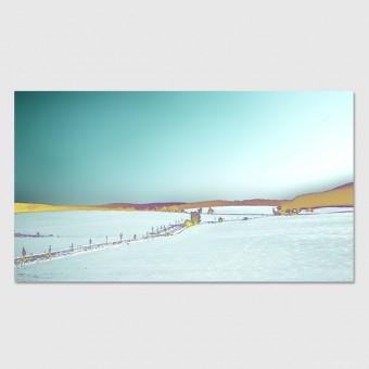 """ZEITLOOPS """"Winterlandschaft 1"""", Poster 16:9"""